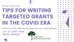 Grant Writing in the COVID era